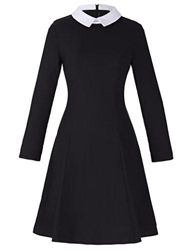 GRACE-KARIN-Long-Sleeve-A-Line-Retro-Dress-for-Women-CL010470
