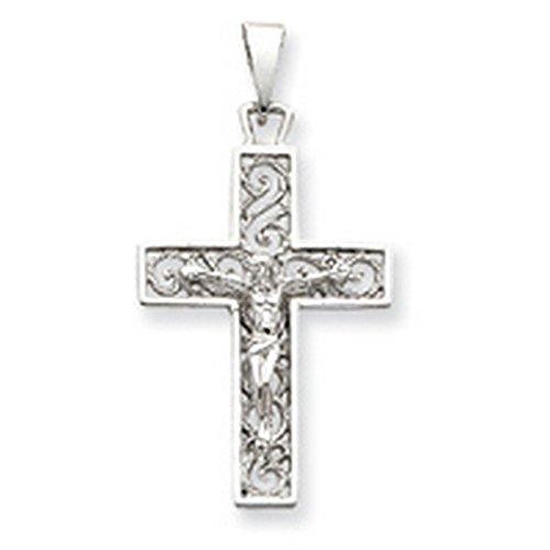 Icecarats Créatrice De Bijoux Or Blanc 14K Crucifix Pendentif
