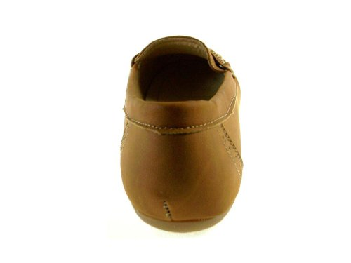Rocus Womens LL02 Slip On Penny Loafers Brown VGpHI9a6