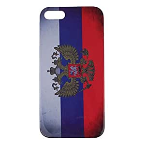 Retro Style Russian Empire Flag Pattern Plastic Hard Case Cover for iPhone 5/5S