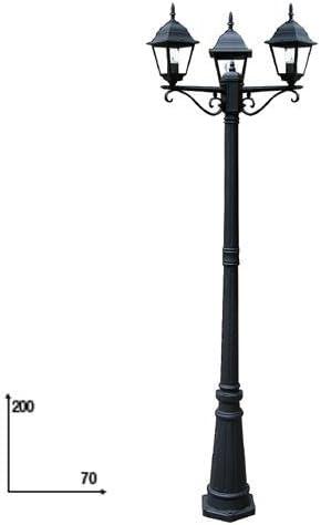 Farola con 3 luces para muebles de jardín 70 x 200 cm: Amazon.es: Jardín