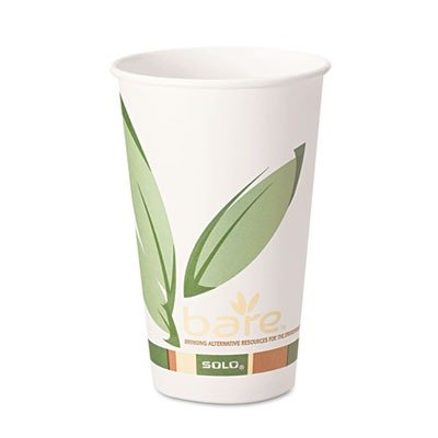 SOLO Cup Company Products - SOLO Cup Company - Bare PCF Paper Hot Cups, 12 oz., 1000/Carton - Sold As 1 Carton - The first-ever FDA approved PCF paper cups. - Made with 10% post-consumer recycled fiber. - For hot beverages. - Made from a minimum of 92% renewable resources. - Features environmental Bare design.