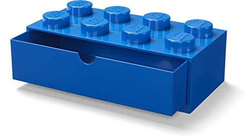 LEGO 40211731 Desk Drawer 8 knobs Stackable Storage Box, Blue