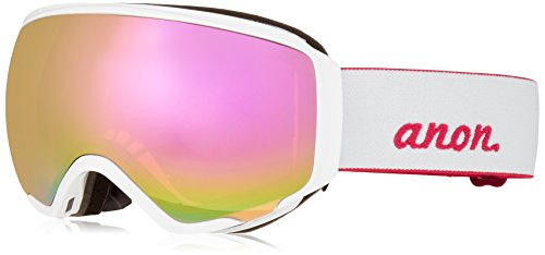 Anon Women's WM1 Goggles, Pearl White Frame, Pink SQ Lens, One - Goggle Anon