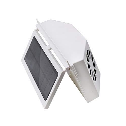 LandFox Solar Powered Car Auto Air Vent Cool 3-Fan Cooler Ventilation System Radiator White