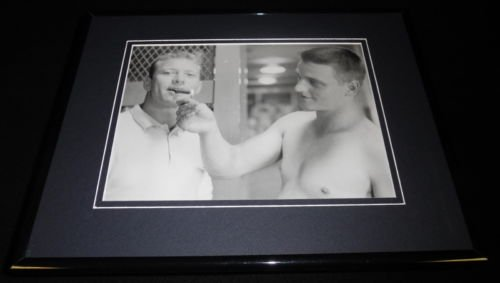 Mickey Mantle Smoking with Roger Maris Framed 11x14 Photo Display Yankees