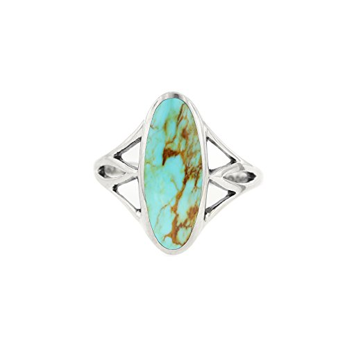 Kabana Sterling Silver Turquoise Oval Shaped Ring for sale  Delivered anywhere in USA