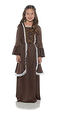 Underwraps Children's Colonial Girl Costume - Medium