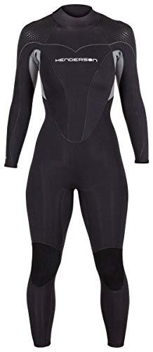 Henderson Women's Thermoprene Pro Wetsuit 5mm Back Zip Fullsuit Black