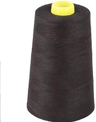 Negro hilo para máquina de coser de poliéster 5000 yardas cuatro ...