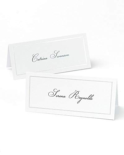 Platinum Foil Border Printable Place Cards
