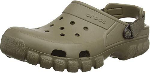 crocs Unisex Offroad Sport Clog,  Khaki/Walnut, 11 M (D) US Men's/13 M (B) US Women (Boots Mens Garden)