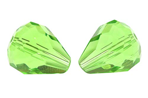 (24pcs 12x10mm Adabele Austrian Teardrop Crystal Beads Peridot Green Compatible with 5500 Swarovski Crystals Preciosa SST-1216)