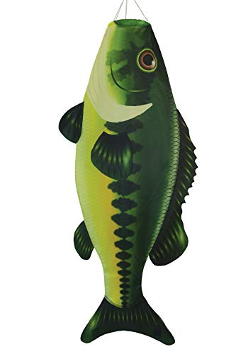 In the Breeze 5115 Bass Fish Windsock-Hanging Outdoor Decoration, 48