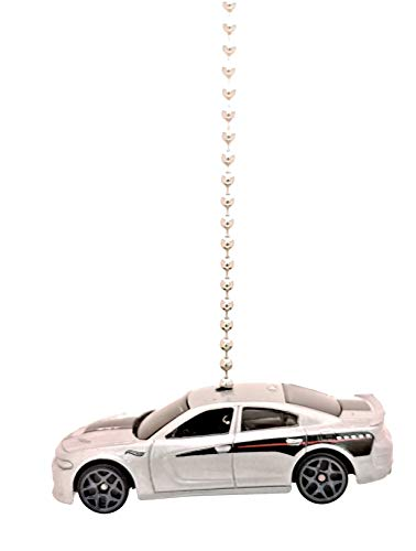 Price comparison product image Hot Wheels Dodge Diecast Car Ceiling Fan Light Pull Ornaments (2015 Dodge Charger SRT - SILVER)