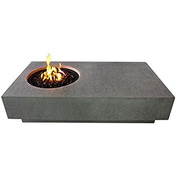 Amazon Com Elementi Metropolis Cast Concrete Fire Pit