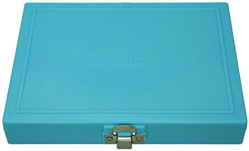 100pc Microscope Slide Storage Box, Baby Blue