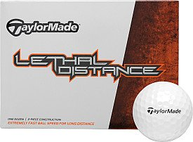 TaylorMade White Lethal Distance Golf Ball (One Dozen)