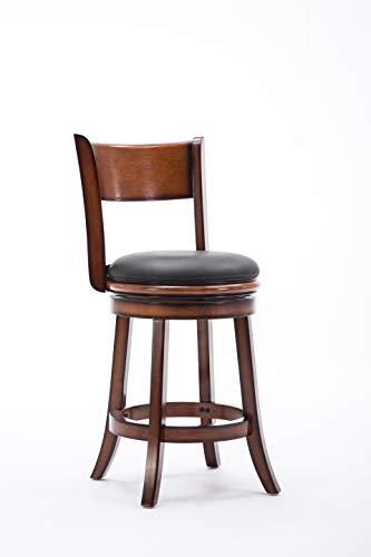 Boraam 45124 Palmetto Counter Height Swivel Stool, 24-Inch, Fruitwood