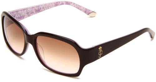 Juicy Couture Women's JU522S Rectangular Sunglasses,Espresso Pink Frame/Brown Pink Lens,One (Juicy Couture Prescription Sunglasses)