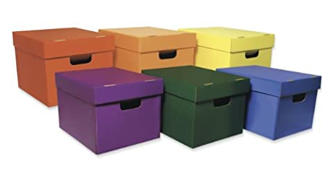 Pacon Classroom Keepers Storage Tote Assortment 6-pack, Assorted Colors (001333)