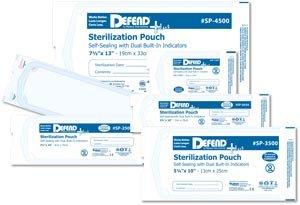 MYDENT DEFEND+PLUS STERILIZATION POUCHES Self-Seal Sterilization Pouch, 2.25'' x 2.75'', 200/bx, 25 bx/cs