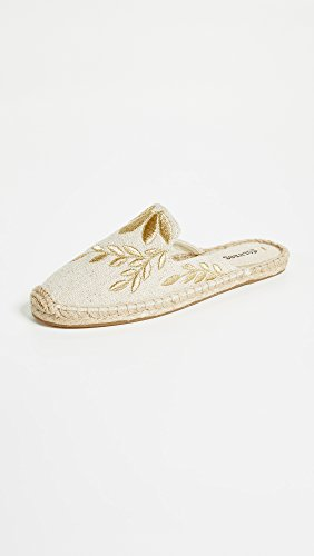 Soludos Women's Mule Sand Floral Embroidered Metallic Sngxw7nrT