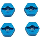 Redcat Racing Aluminum Wheel Hex, 4-Piece, 12mm, Blue