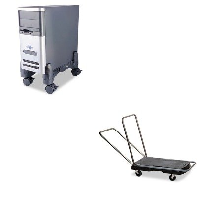 Rubbermaid Computer Carts - KITKTKCS200BRCP440000 - Value Kit - Rubbermaid Utility-Duty Home/Office Cart (RCP440000) and Kantek Mobile CPU Stand (KTKCS200B)
