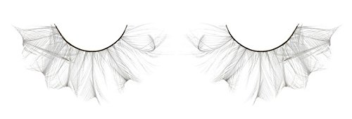 Zink Color Pure White Feather False Eyelashes F147 Dance Halloween Costume]()