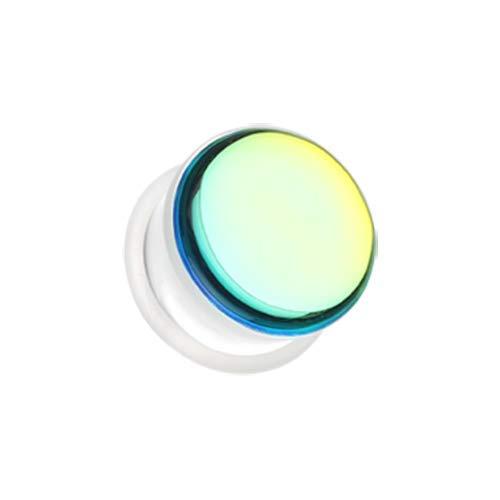 Covet Jewelry Revo Chroma Flair Iridescence Single Flared Ear Gauge Plug (0 GA (8mm))