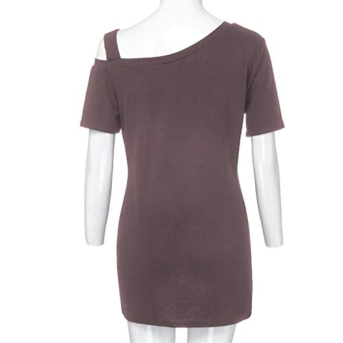 Zackate_Women Sweatshirts Women's Short Sleeve Casual Cold Shoulder Tunic Tops Loose Blouse Shirts by Zackate_Women Sweatshirts (Image #6)