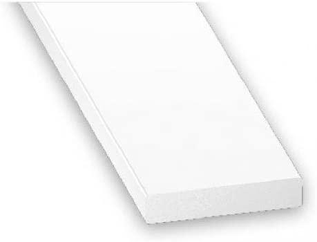 25mm x 5mm x 1m PVC Plastic Rigid Flat Bar Edging White