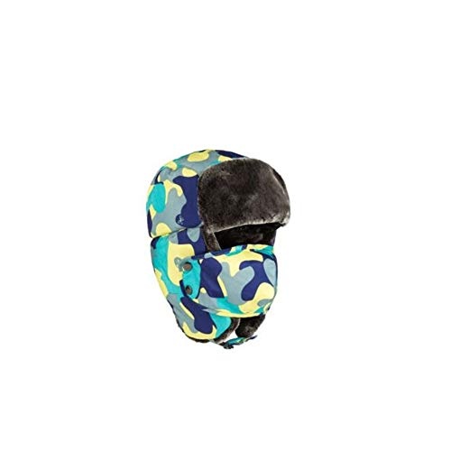 Aoile Unisex Winter Warm Trooper Hat Hunting Hat Ushanka Hunting Hat with Ear Flaps Windproof Mask Adult - Blue Camouflage One Size