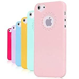 ZCL sold out Carving and Heard-shape Pattern Solid Color Hard Case for iPhone 5/5S (Assorted Colors) , Pink