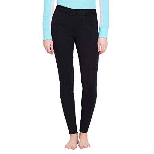 TuffRider Women's Cotton Schoolers, Black, - Equipment Riding