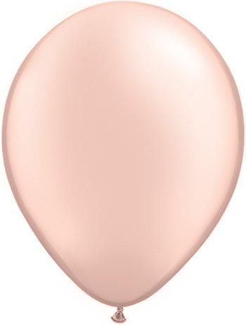 100 x 5 Inch Small Pearl Peach Latex Balloons by Qualatex by Qualatex