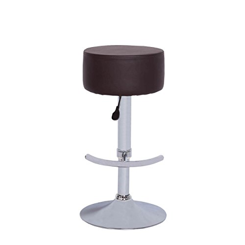 Vogue Furniture Direct Vogue Furniture Backless Black Leather Adjustable  Stool With Footrest