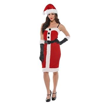 Christy`s 996131 - Disfraz de Mamá Noel para mujer: Amazon ...