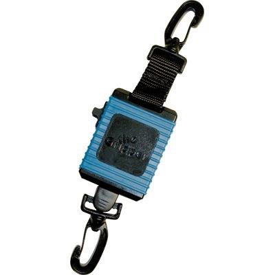 (Innovative Scuba Concepts Locking Retractor with Swiv Clip Black)