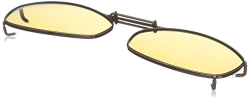 Cocoons Polarized Clip-on Rectangle 6 L4139A Rectangular Sunglasses, Bronze, 48 - Cocoons Sunglasses Clip-on