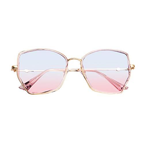 Unisex Lightweight Polarized Sunglasses Classic Retro Irregular UV Protecttion Eyewear (Gray)