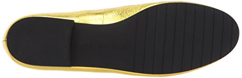 Kenneth Cole New York Vrouwen Westley Platte Lederen Slip-on Loafer Goud