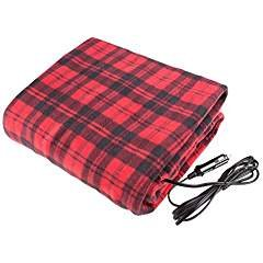 Treksafe 12V Heated Blanket - car / truck, high / low temperature, warm and comfortable (Car Plug Blanket)