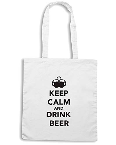 KEEP Speed BEER0082 BEER Shopper DRINK CALM Shirt Borsa Bianca AND wTqOrpSWq