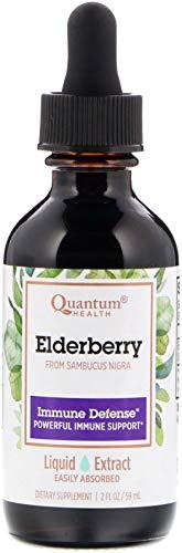 Quantum Elderberry Immune Defense Liquid Extract - 700 Milligram Per Serving - 2 Fluid Ounce ()