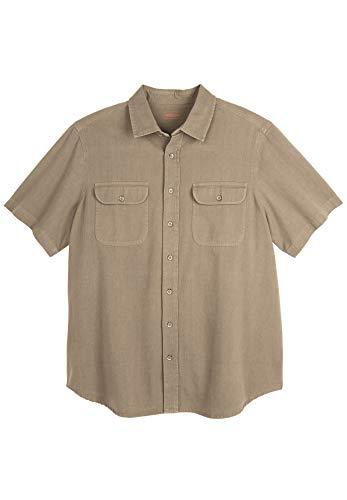 Boulder Creek Men's Big & Tall Short-Sleeve Renegade Shirt, Dark Khaki Tall-6Xl ()