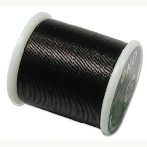 Nylon Bead Thread (K.O. Japanese Nylon Beading Thread for Delica Beads, 50m, Black)