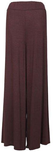 Nouveau dames vase Palazzo pantalons larges Pantalon jambes Panama36-44 brown