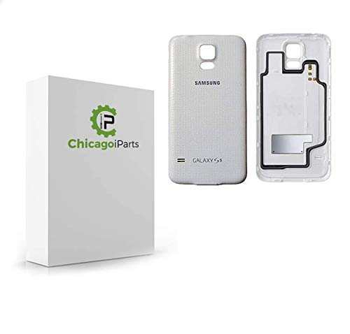 official photos ce1cf f1fa1 for Samsung Galaxy S5 Back Cover- Rear Cover Replacement Part (White)